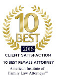 Margaret O'Connor - American Institute of Family Law Attorneys 10 Best Award - 2016