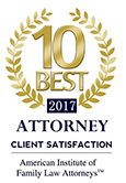 Heather Nelson - American Institute of Family Law Attorneys 10 Best Award - 2017